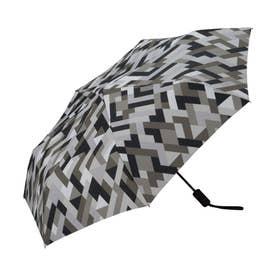 雨傘 UNISEX ASCフォールディングアンブレラ (ジオメトリーグレー)