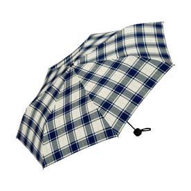 雨傘 UNISEX ベーシックフォールディングアンブレラ (ラインチェック)