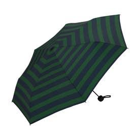 雨傘 UNISEX ベーシックフォールディングアンブレラ (グリーンボーダー)