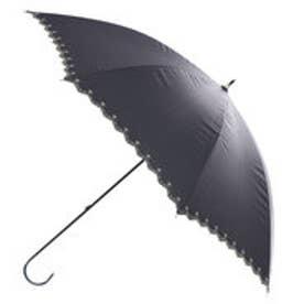 日傘遮光星柄スカラップ (ブラック)