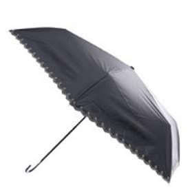 日傘遮光星柄スカラップmini (ブラック)