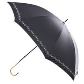 日傘遮光プチフラワー刺繍 (ブラック)
