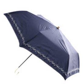 日傘遮光プチフラワー刺繍mini (ネイビー)