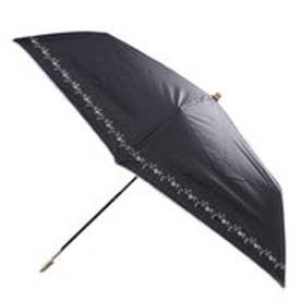 日傘遮光プチフラワー刺繍mini (ブラック)