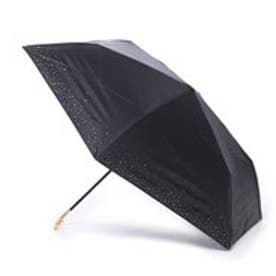 日傘 晴雨兼用 遮光リムスターmini (ブラック)