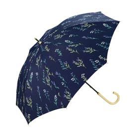 日傘 遮光春の庭 (ネイビー)