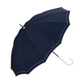 雨傘 12本骨リムドットスター (ネイビー)