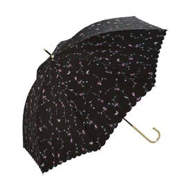 雨傘 アイビーフラワー (ブラック)