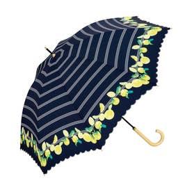 雨傘 ボーダーフルーツ (ネイビー)