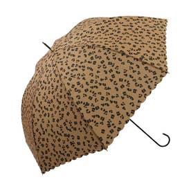 雨傘 レオパード (キャメル)