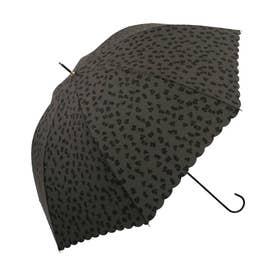 雨傘 レオパード (ブラック)