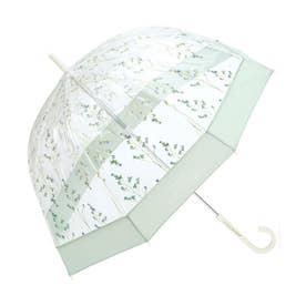 雨傘 plantica×フラワーアンブレラプラスティック (グリーン)