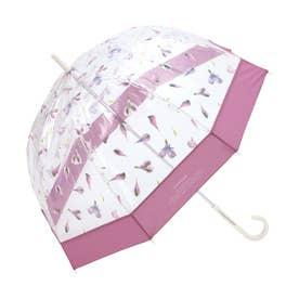 雨傘 plantica×フラワーアンブレラプラスティック (ピンク)