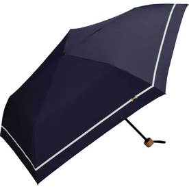 ワールドパーティ W by WPC. 遮熱 遮光 軽量ミニパラソル 折りたたみ傘 (801-3229.ラインリボン_ネイビー)