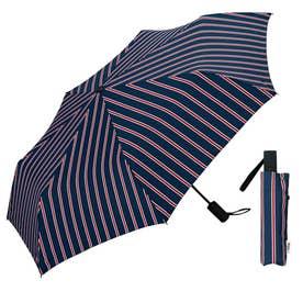 W.P.C ワールドパーティー 自動開閉 折りたたみ傘 (MSJ011.スクールSTRIPE)