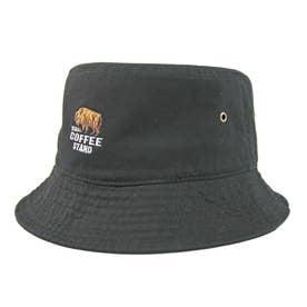 BISON刺繍バケットハット BUCKET HAT (Black)