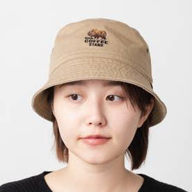 BISON刺繍バケットハット BUCKET HAT (Beige)