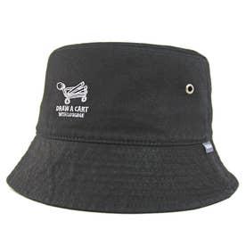 ワンポイント刺繍バケットハット BUCKET HAT OUTDOOR (Black)