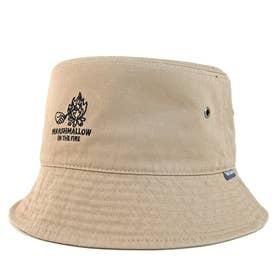 ワンポイント刺繍バケットハット BUCKET HAT OUTDOOR (Beige)