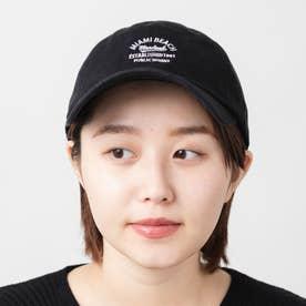 カレッジロゴ刺繍キャンバスLOWキャップ (Black)