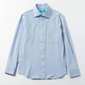 究極のワイドカラーシャツ (サックスブルー)