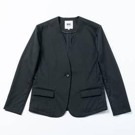 ノーカラージャケット (ブラック)