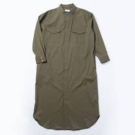 3WAYシャツワンピースコート (オリーブ)