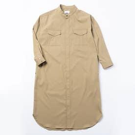 3WAYシャツワンピースコート (ベージュ)
