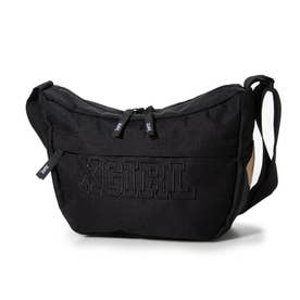COLLEGE LOGO SHOULDER BAG (BLACK)