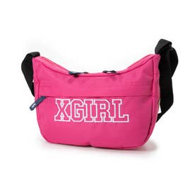 COLLEGE LOGO SHOULDER BAG (PINK)