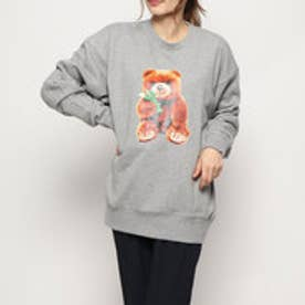 x YURINO TEDDY BEAR CREW SWEAT TOP (ASH)
