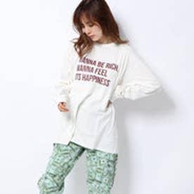 x YURINO CHECKLIST L/S BIG TEE (WHITE)