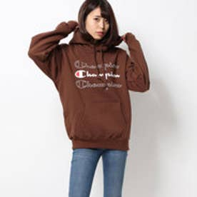x CHAMPION SWEAT HOODIE (BROWN)