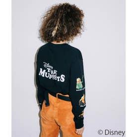 X-girl/Disney/THE MUPPETS/PRINTED SLEEVE L/S TEE (BLACK)