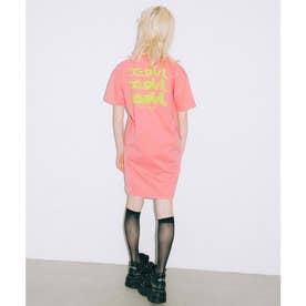GLOW LOGO S/S TEE DRESS (PINK)