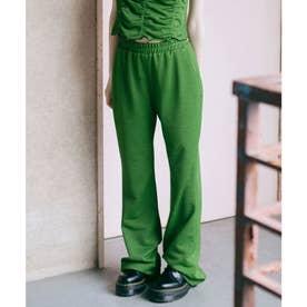 JACQUARD JERSEY FLARE PANTS (GREEN)
