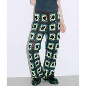 CROCHET PANTS (BROWN)