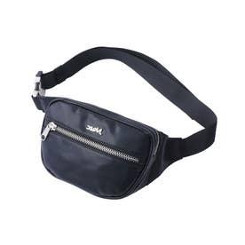 FAUX LEATHER WAIST BAG (BLACK)
