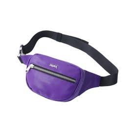 FAUX LEATHER WAIST BAG (PURPLE)