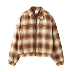 OMBRE PLAID JACKET (BROWN)