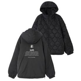 REVERSIBLE QUILTED JACKET (BLACK)