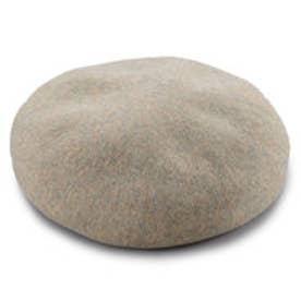 八角ビックベレー帽 (MIXベージュ)
