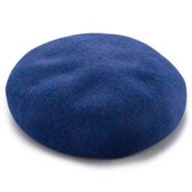 八角ビックベレー帽 (MIXブルー)