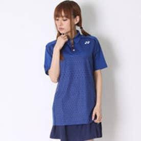 テニス用ポロシャツ ポロシャツ(スリムタイプ) 12123 ブルー  (ダークブルー)