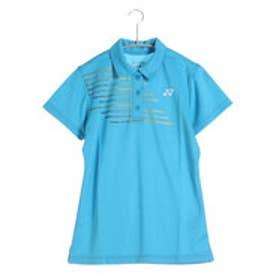 テニス用ポロシャツ ポロシャツ(スリムロングフィットタイプ) 20302 ブルー  (ウォーターブルー)