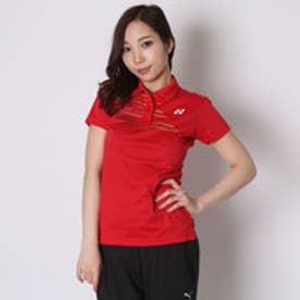 テニス用ポロシャツ ポロシャツ(スリムロングフィットタイプ) 20302 レッド  (クリスタルレッド)