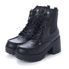 [限定shop取扱いアイテム]厚底ショートブーツ (ブラック)