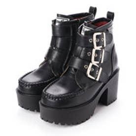 厚底ショートブーツ (ブラック)