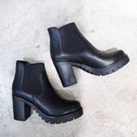 サイドゴアショートブーツ (ブラック)