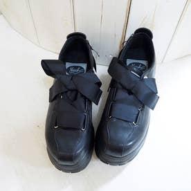 [アメーバーソール]厚底スニーカー (ブラック)